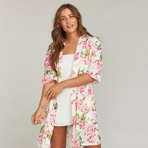Show me your mumu pink floral robe